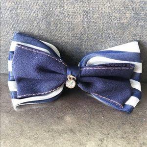 Infinite Blue Paris Hair Clip, Paris Bow